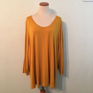 a.n.a. Mustard Gold Tunic Knit Top Size 3X NWT